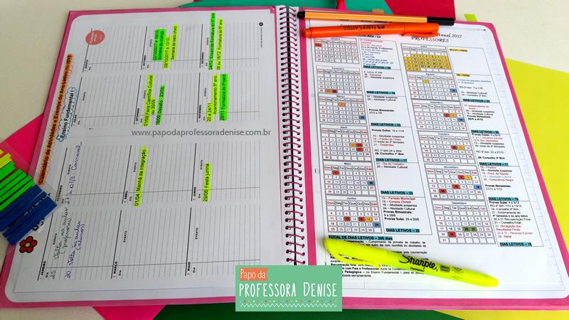 Meus segredos para montar um planner de professora 7