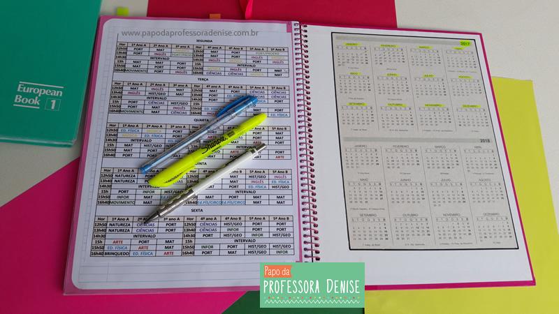Meus segredos para montar um planner de professora 11