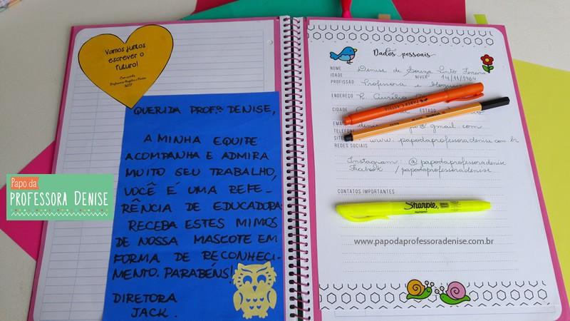 Meus segredos para montar um planner de professora 6