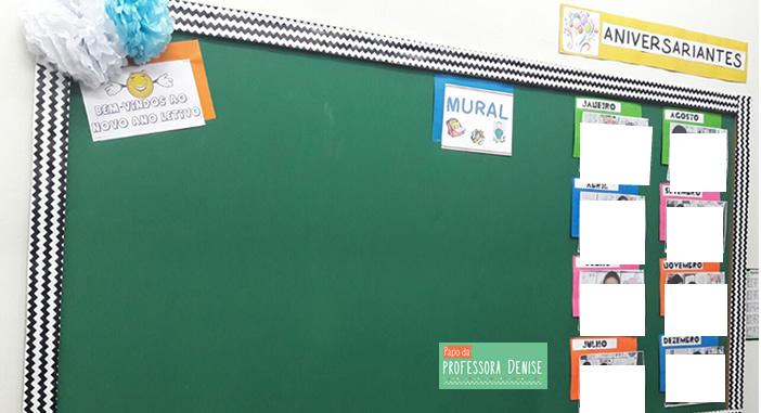 Início das aulas e organização da classe 6