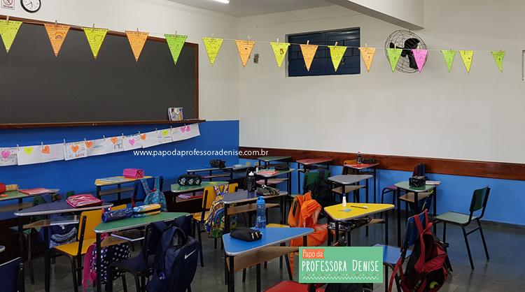 Início das aulas e organização da classe 3