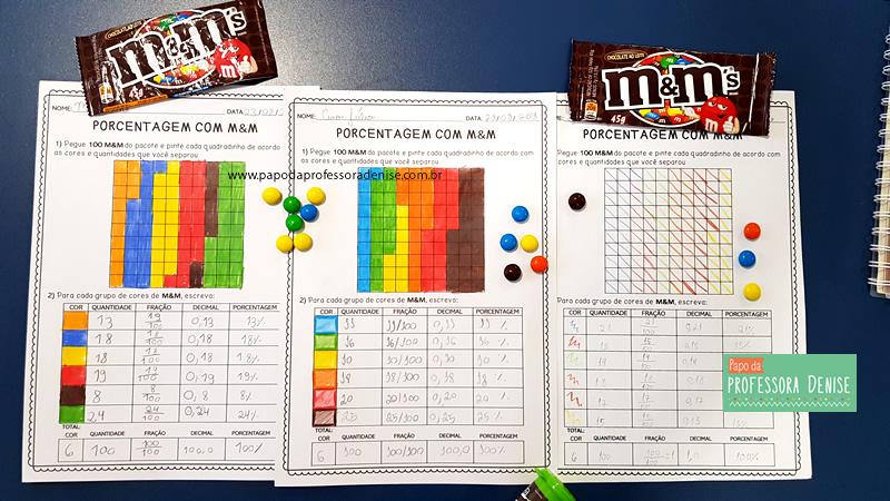 Como calcular PORCENTAGEM com M&M brincando 12