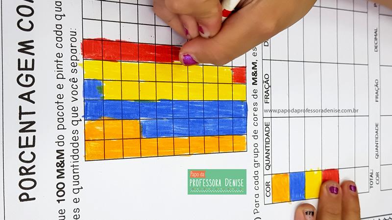 Como calcular PORCENTAGEM com M&M brincando 9