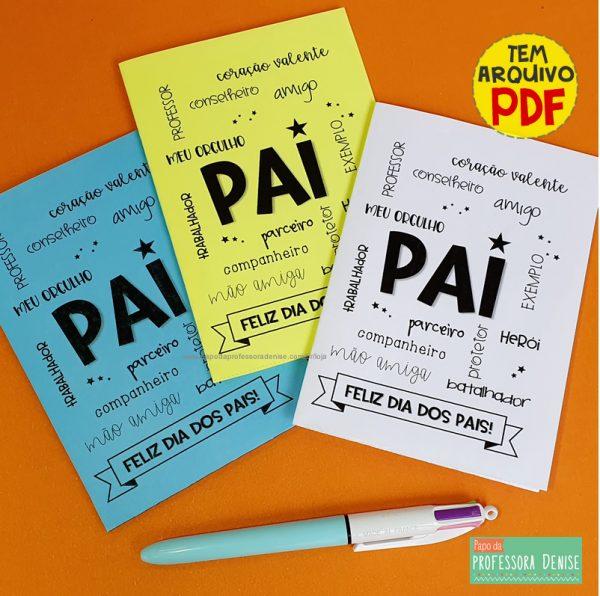 CARTÃO DIA DOS PAIS - ESTRELA 1