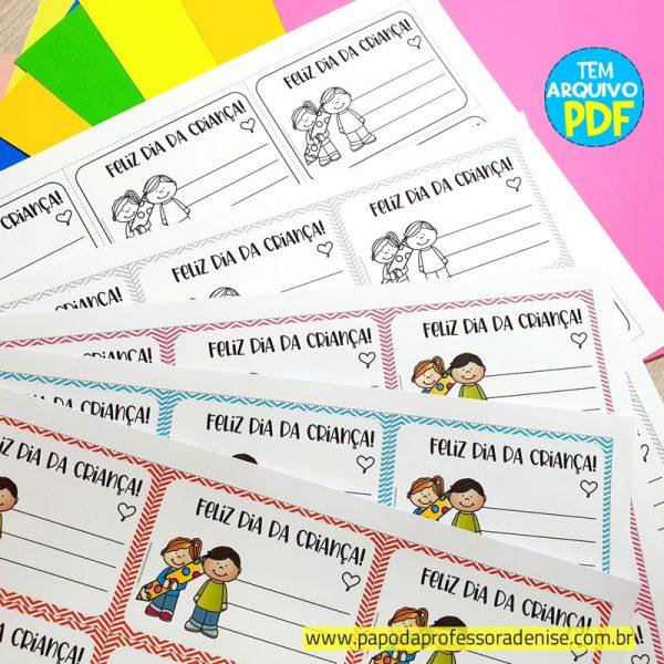 Etiquetas para Presente Dia da Criança 1