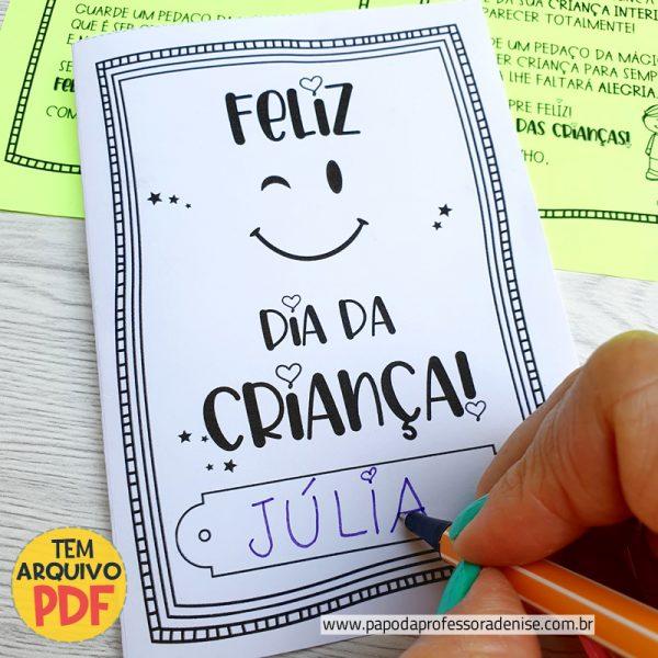 Cartão Dia da Criança - Coração 1