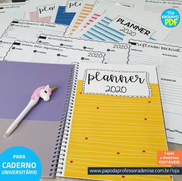 Planner de Professor 2020 - COMPLETO - CADERNO Decorado 1