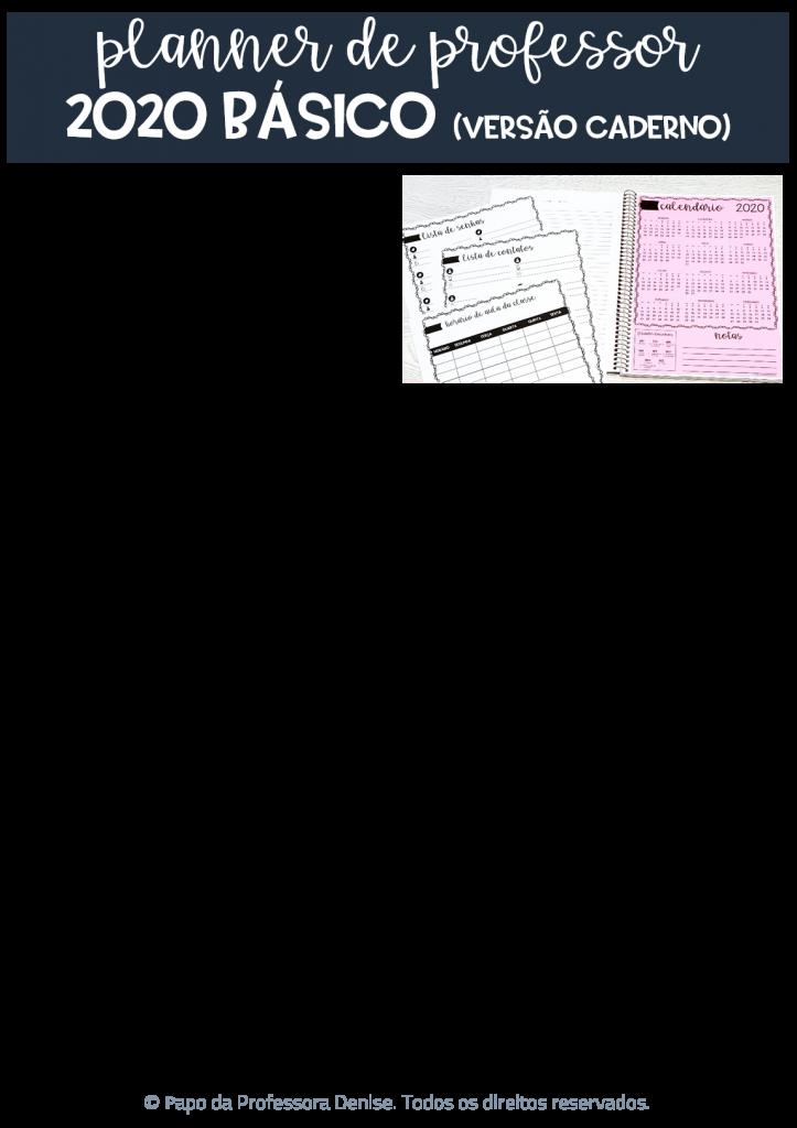 Planner de Professor 2020 - BÁSICO - CADERNO Decorado 8