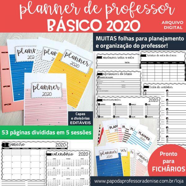 Planner de Professor 2020 - BÁSICO - Fichário Decorado 1