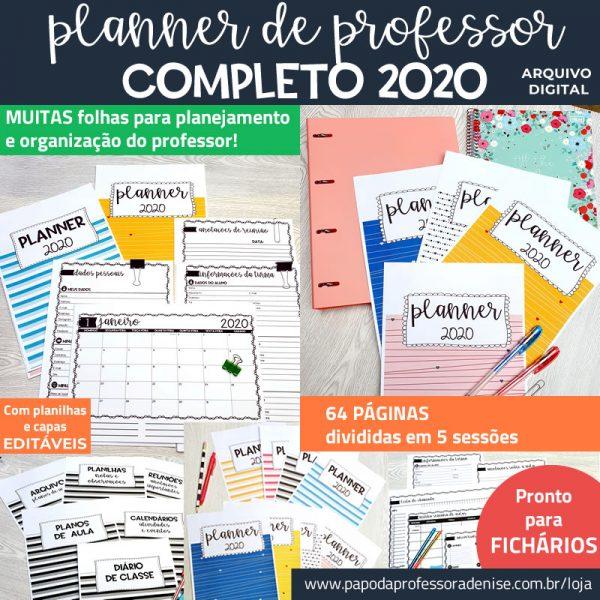 Planner de Professor 2020 - COMPLETO - Fichário Decorado 1