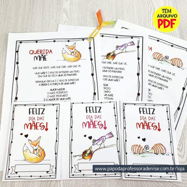 Kit Cartão Dia das Mães Coleção Filhotes 1