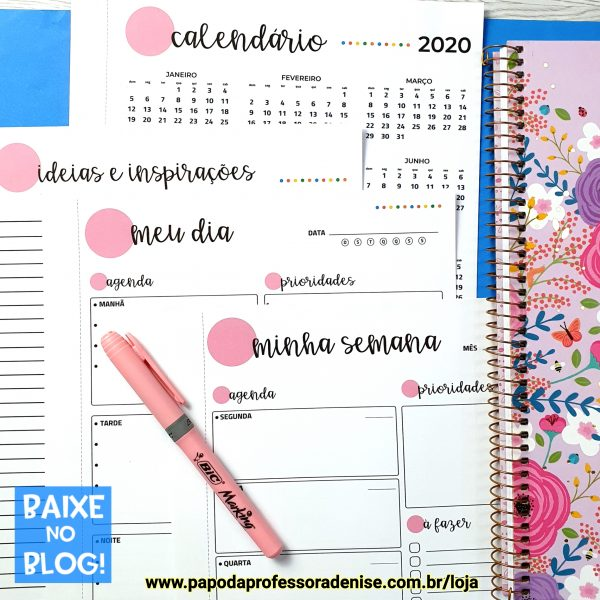 Planner Diário 2020 ROSA 1