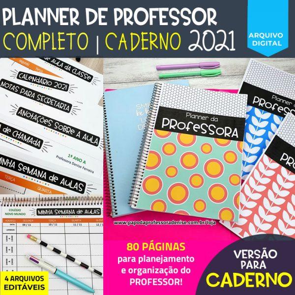 Planner de Professor 2021 - COMPLETO - CADERNO 1