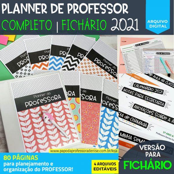 Planner de Professor 2021 - COMPLETO - FICHÁRIO 1
